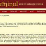 Método de formação política da escola nacional Florestan Fernandes do MST